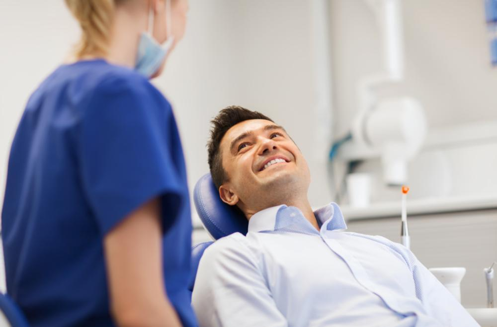 Man at Dentist | LANAP Gum Treatment Clinton Township