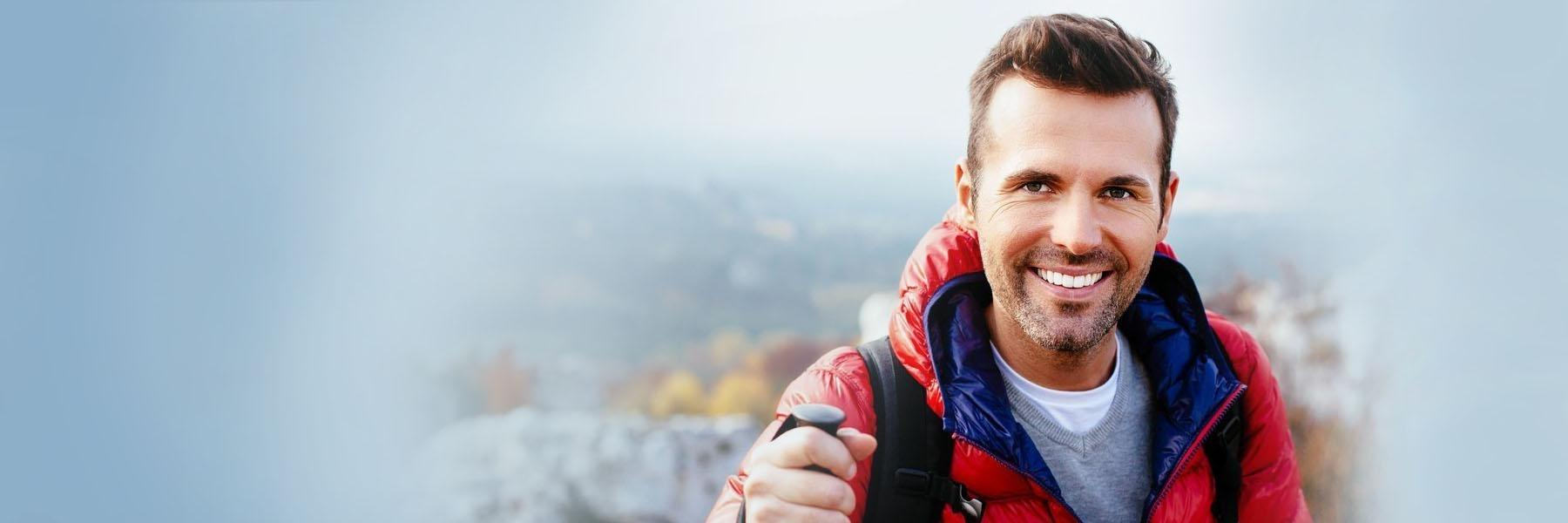 Man Hiking | Clinton Township Periodontal Care