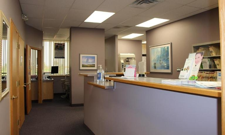 Reception Desk at our Clinton Township dental office