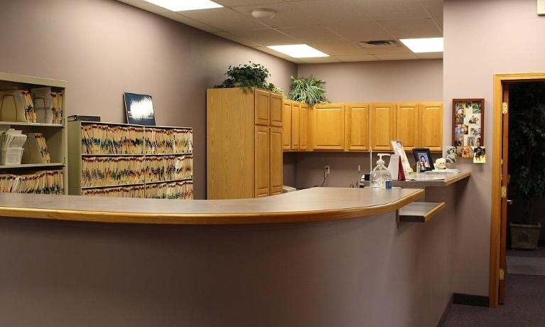 Reception Desk at Clinton Township office
